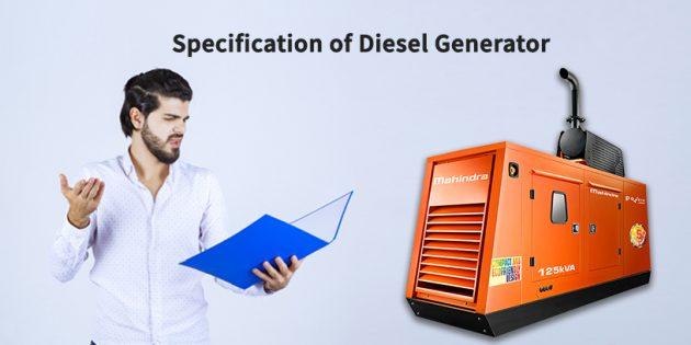 specification of diesel generator